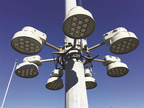 led high mast light lighting up the locks gt huntington district gt news stories