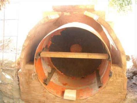 como hacer un tambor construcci 243 n de un horno de le 241 a con barro y un tambor de