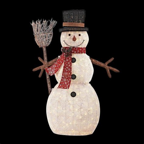 Lighted Outdoor Snowman Home Accents 72 In Led Lighted Pvc Cotton String