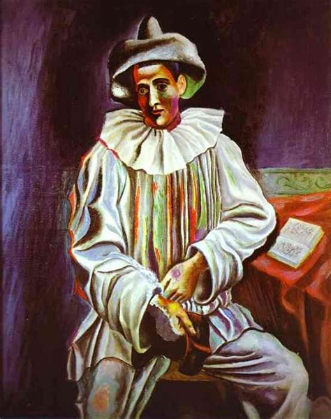 picasso paintings cafe pablo picasso pierrot 1918