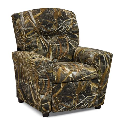 kidz world real tree max 5 camouflage recliner