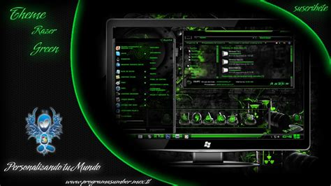 download theme windows 8 1 razer new theme razer green personalizacion youtube