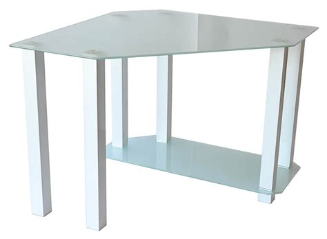 Glass Top Corner Computer Desk Glass Corner Desk Corner Computer Desk With Glass Top And Aluminum Legs Shop Ladder En 2 X