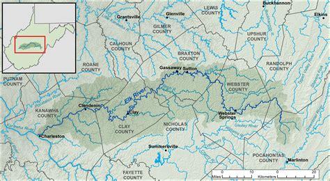elk river yorkies river map wv