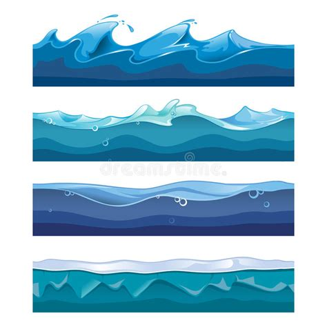 water layout vector seamless ocean sea water waves vector stock vector