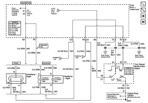 2003 pontiac sunfire headlight wiring harness diagram