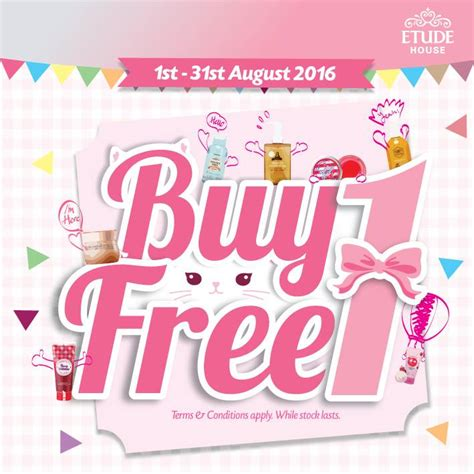 etude house buy online etude house buy 1 free 1 promotion aug 2016