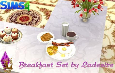 ladesire creative corner breakfast set sims  downloads