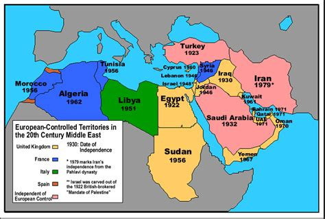 middle east map after colonial creation the middle east mess democracyinaction
