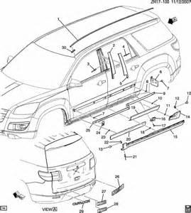2007 2010 gmc acadia saturn outlook passenger side bottom door molding factory oem parts