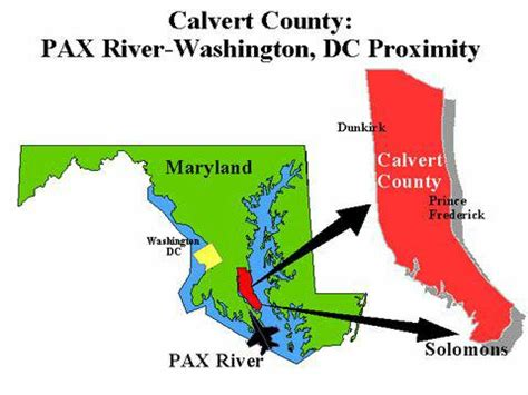 map of calvert county md visit solomons island in calvert county maryland