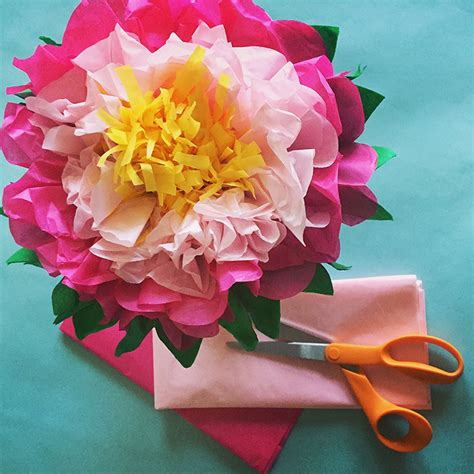 How To Make Paper Flower Petals - how to make a tissue paper flower a dazzling tutorial