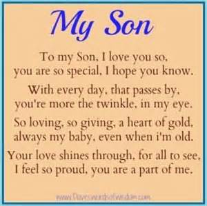 To my son i love you so you are so special i hope you know happy