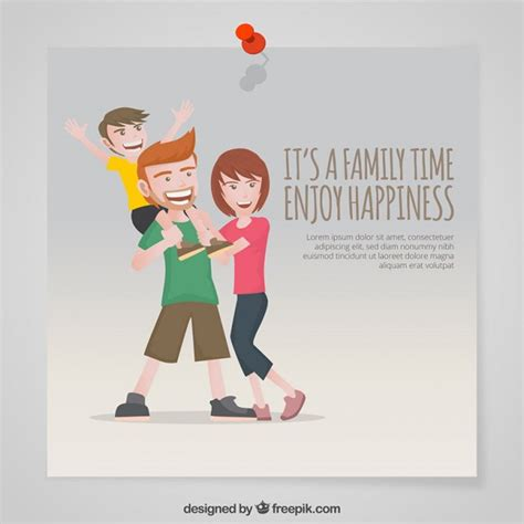 Family Time it s a family time enjoy happiness vector free