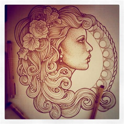 gypsy girl tattoo designs nouveau flash
