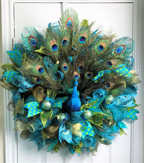 peacock deco mesh peacock wreath peacock feathers