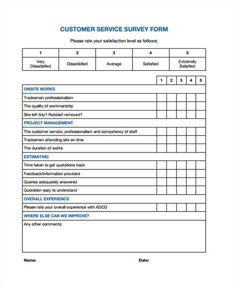 29 Survey Form Templates Survey Form Template