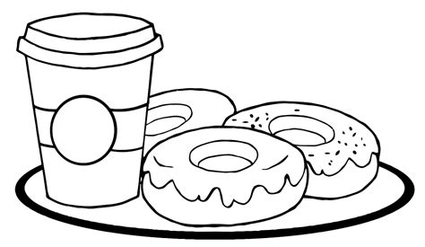 free photos of junk food coloring pages