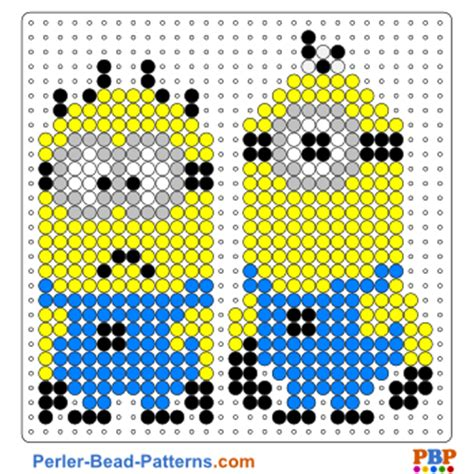hama bead template printable minion perler bead patterns u create