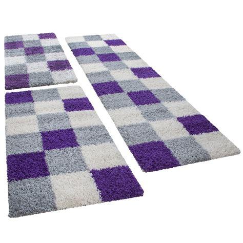 teppiche ohne muster shaggy l 228 ufer bettumrandung hochflor teppich karo muster