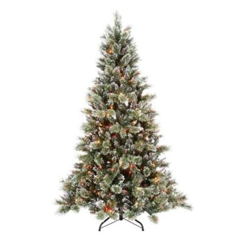 martha stewart living 7 5 ft sparkling pine artificial