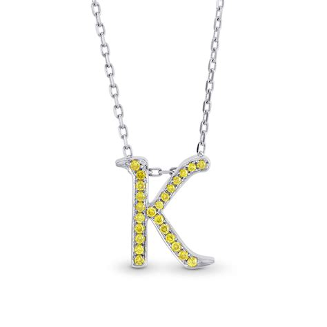 0 12cts yellow pave pendant necklace set in 18k