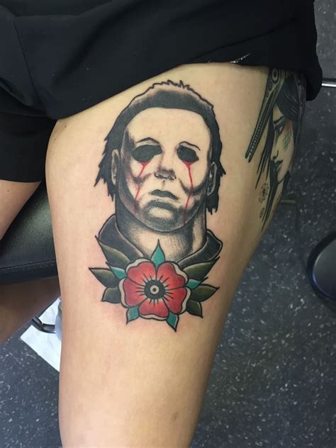 michael myers tattoo neotraditional michael myers from aaa in