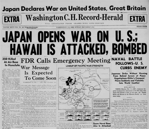 Formal News by Remembering Pearl Harbor Comparing News Headlines From