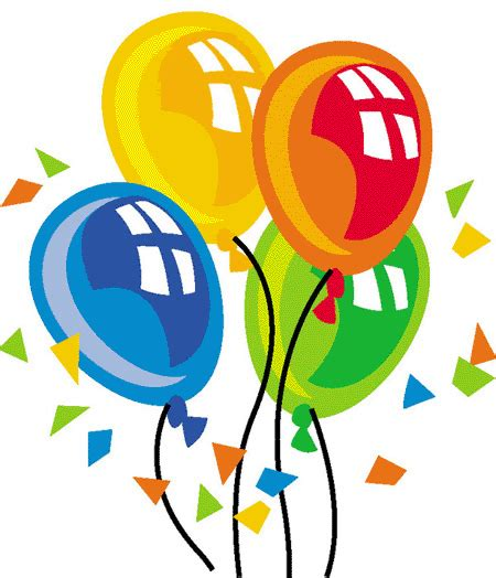 Birthday balloons and cake clip art clipart panda free clipart images