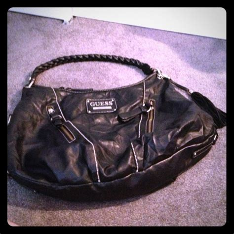 New Original Guess Hobo Black 82 guess handbags guess faux leather black hobo bag