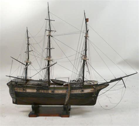 sailing boat with 3 masts three masted sailing ship model 19th 20th c n9enbh