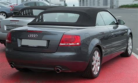 Audi A4 Cabrio S Line by File Audi A4 B7 Cabriolet 1 8 T S Line Rear 20100519 Jpg