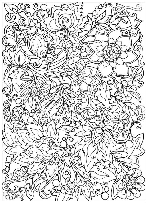 vintage coloring pages adults 2474 best flower coloring images on pinterest coloring