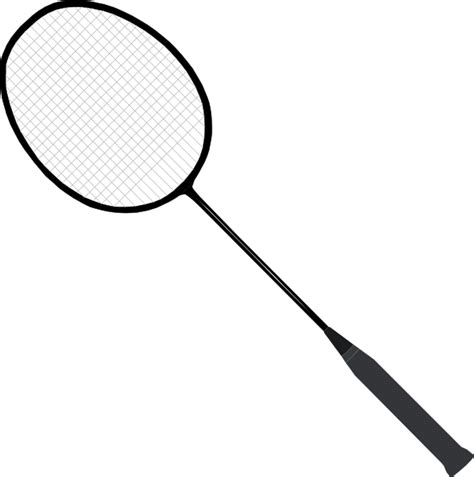 Raket Minton badminton racket clip at clker vector clip royalty free domain