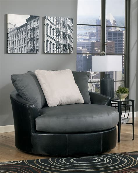 Masoli Cobblestone Oversized Swivel Accent Chair From Oversized Swivel Accent Chair