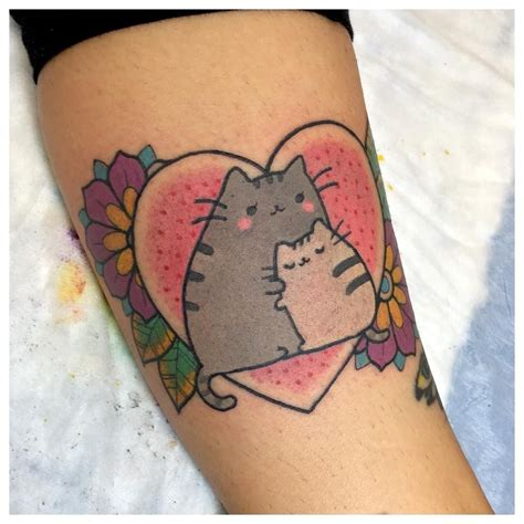 pusheen tattoo pusheen by the bunny machine