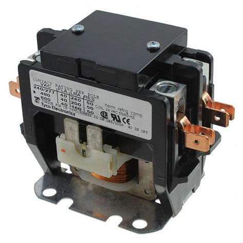 2 pole 24v contactor relay wiring diagram magnetic motor