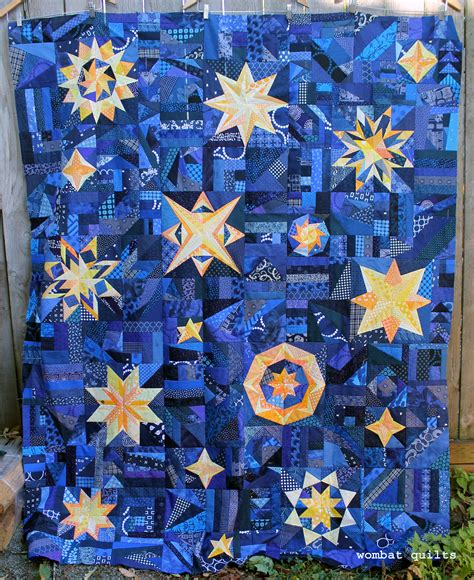 Starry Quilt Pattern by Starry Night The Big Reveal Wombat Quilts