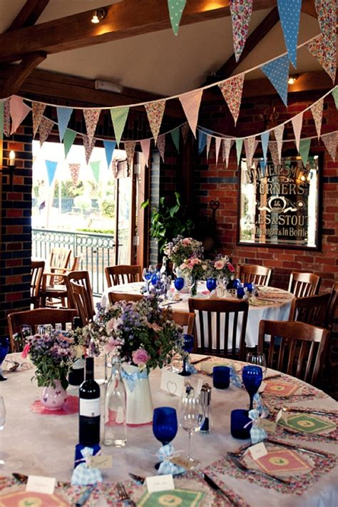 real wedding  minute colourful country pub wedding