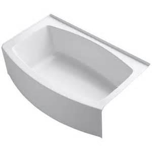 curved bathtubs kohler expanse 5 ft acrylic right drain curved