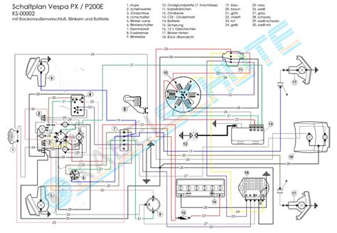 wiring diagram vespa p200e wiring diagram and schematics