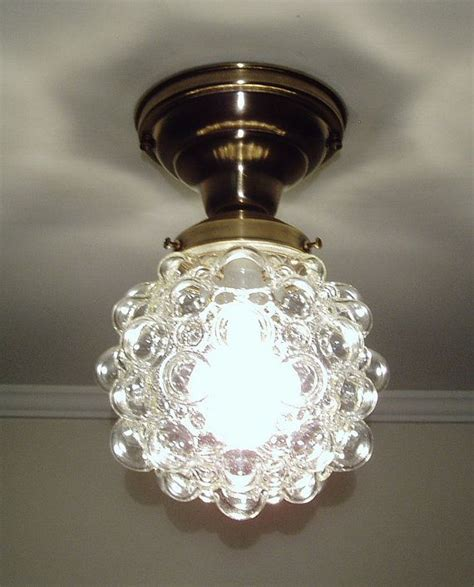 Vintage Kitchen Ceiling Lights Vintage Mid Century Ceiling Light Fixture Kitchen Porch Glass Shade Ceiling