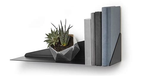 umbra stealth wall shelf in wall mounted shelves