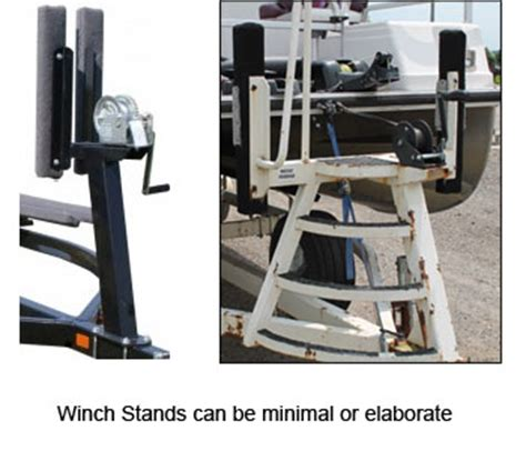 pontoon boat trailer winch stand with steps pontoon trailers 101 winich stands