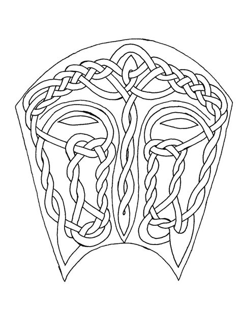 celtic coloring mask i by artistfire on deviantart