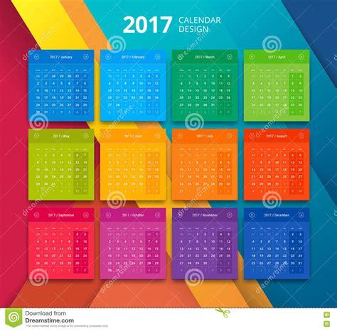 material design calendar vector vector 2017 year calendar design template stock vector