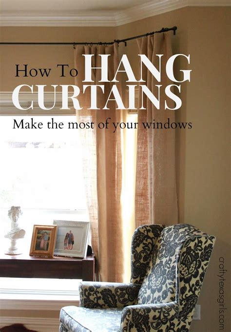 How To Hang Curtains The Crafty The Thing About Hanging Curtains