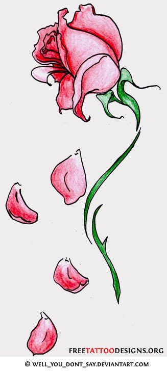 falling rose petal tattoo fallen petal tattoos designs to enlarge