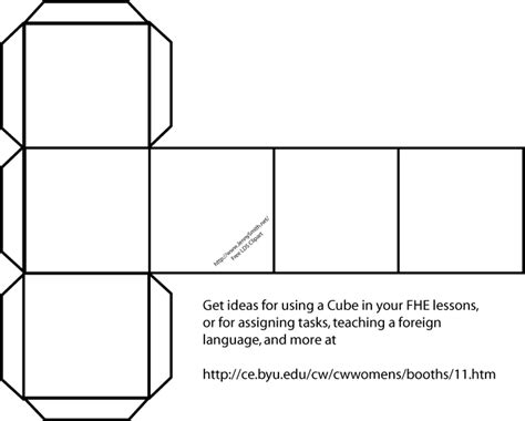 How To Make A Paper Cube Box - template for a cube printable clipart best