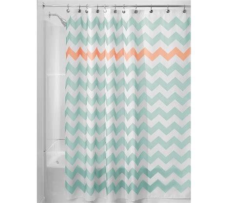 dorm shower curtain chevron fabric shower curtain aruba coral dorm